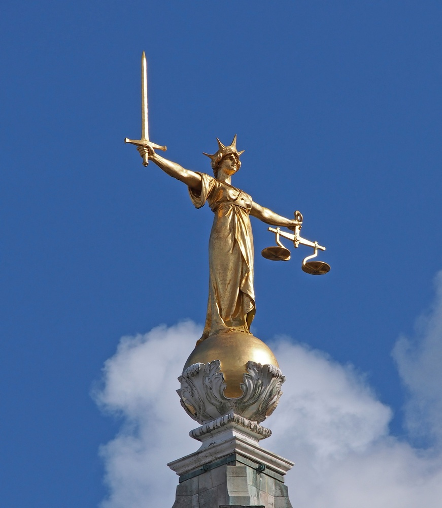 Lady Justice atop the Old Bailey